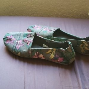 Mad Love Slip On Floral Print Shoes